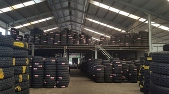 Tires Michelin warehouse in Indonesia